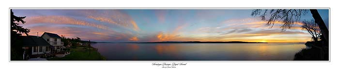 Camano Island Washington, overlooking Whidby Island and the Olympic Mountains - Amazing Sunset Picture